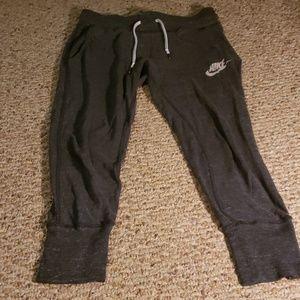 Black/grey Nike sweatpants